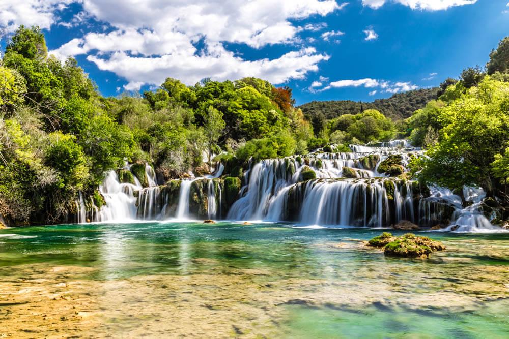 Krka Nationalpark Wasserfälle Mietwagenrundreise Kroatien