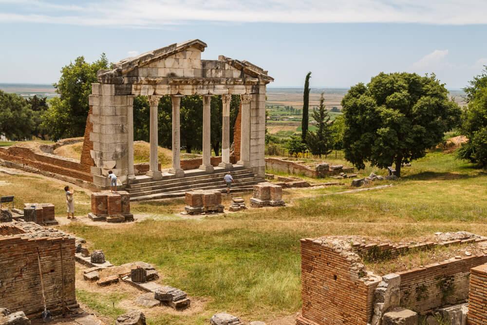 Apollonia Ausgrabungsstätte Mietwagenrundreise Albanien