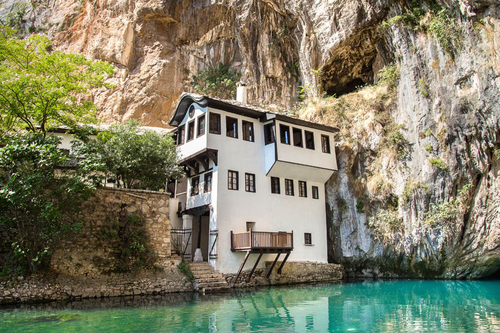 Dervish House in Blagaj Mietwagenrundreise Kroatien&Bosnien-Herzegovina