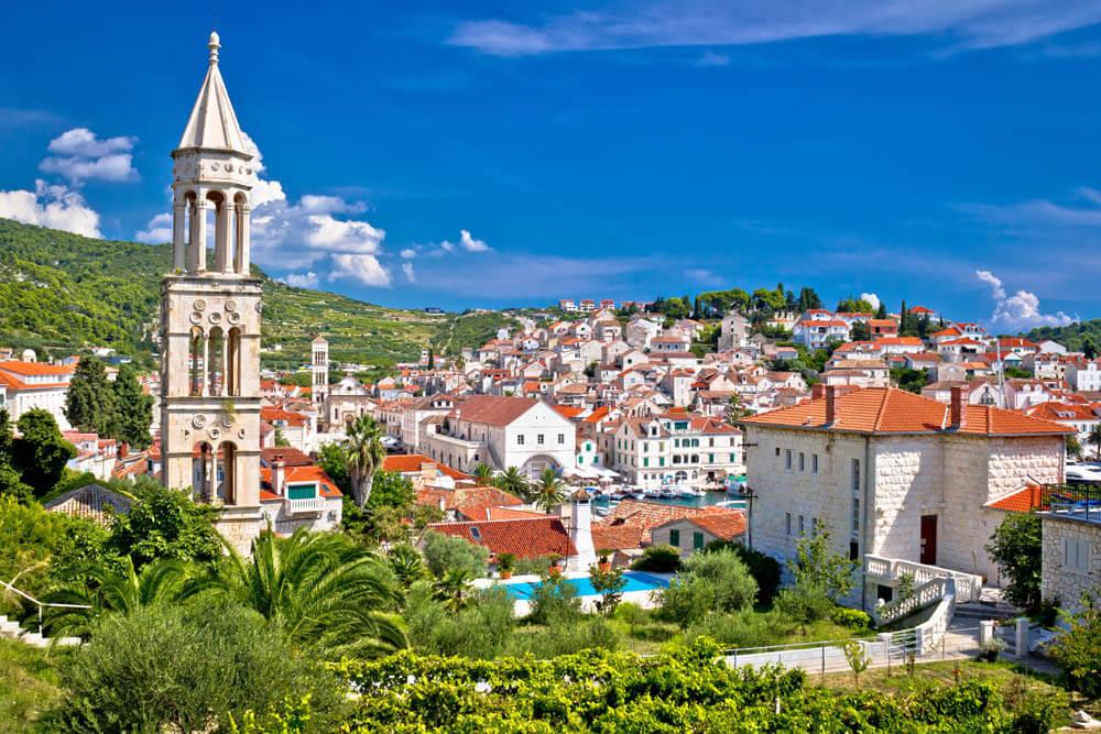 Hvar Altstadt Mietwagenrundreise Kroatien