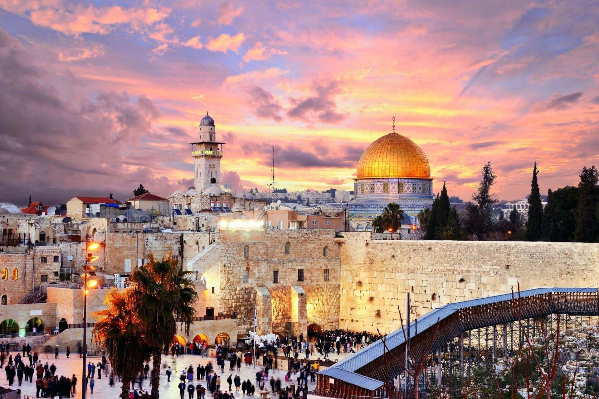 Jerusalem by night Mietwagenrundreise Israel