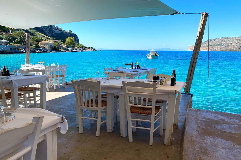 Restaurant Mietwagenrundreise Peloponnes