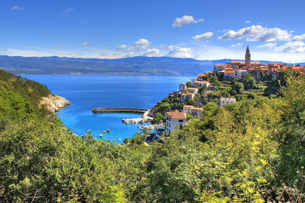 Vrbnik Insel Krk Mietwagenrundreise Kroatien