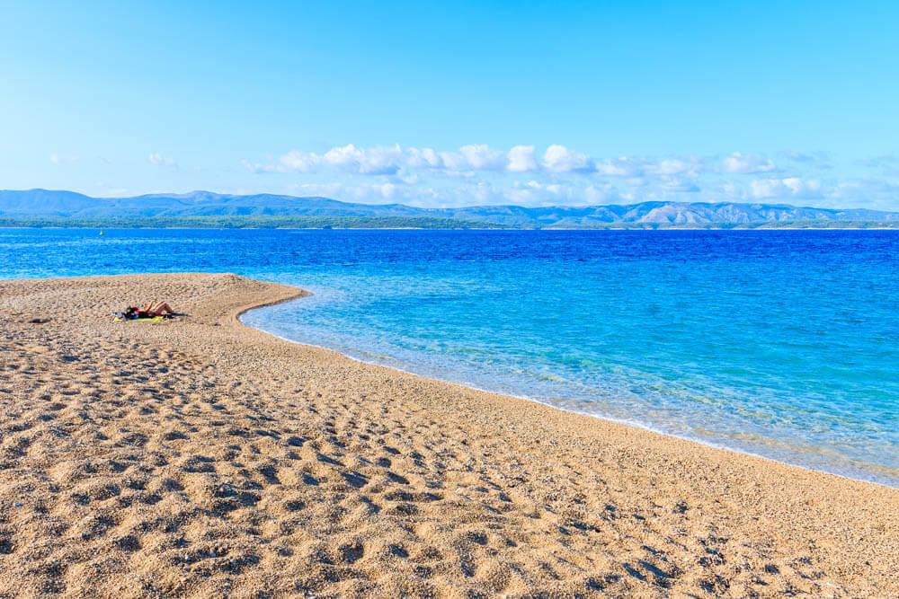 Zlatni rat Insel Brac Mietwagenrundreise Kroatien