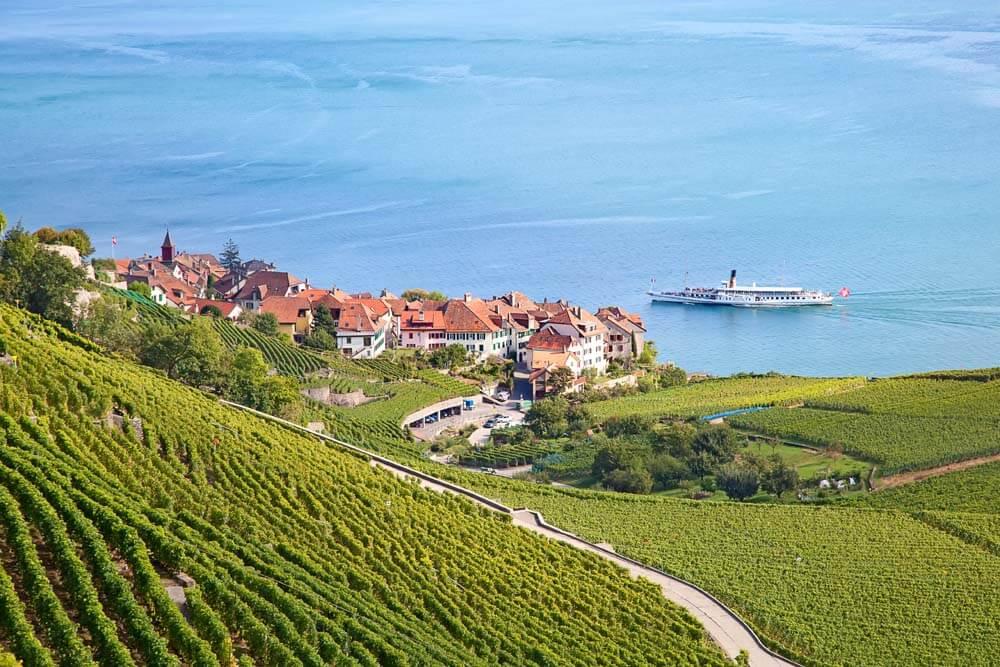 Lavaux Wunderschöne Schweiz Autorundreise